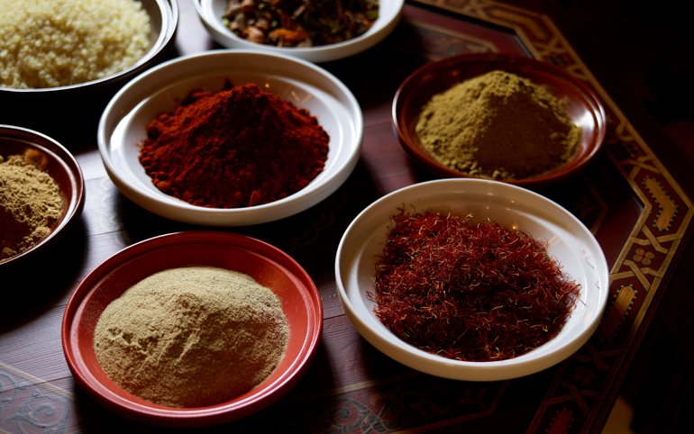 © La Mamounia_Selection of Spices and Herbs